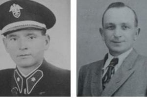 Rescuers Adam Bomba and Jozef Kisel.