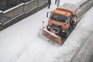 Snow in Bratislava, Feb 7, 2018