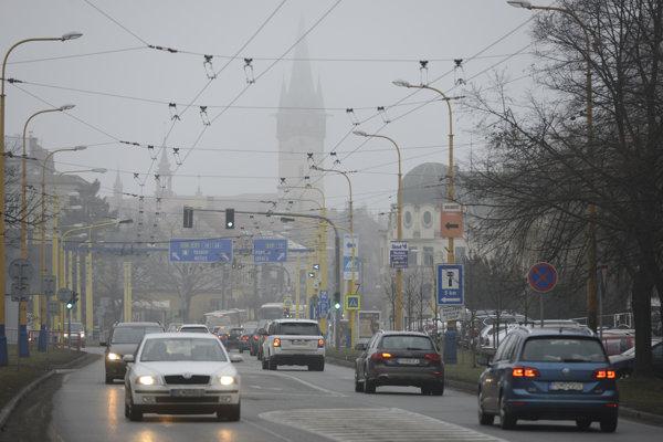 Smog in Prešov, illustrative stock photo