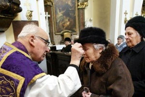Ash Wednesday in the Brothers of Mercy Churhc in Bratislava