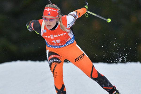 Paulína Fialková runs her race