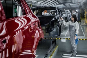 The automotive industry is the driving force of the industrial production in Slovakia.