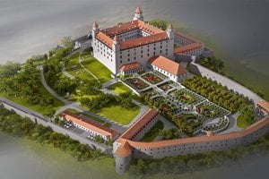 Visualisation of the reconstructed Bratislava Castle