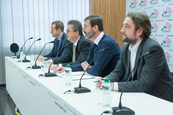 l-r: Viktor Stromček, Martin Glváč, Juraj Blanár and Luboš Blaha