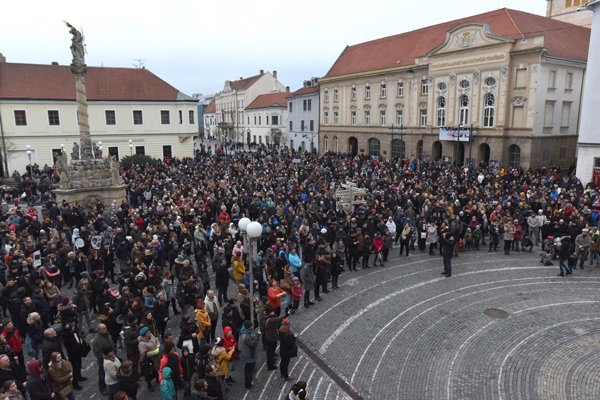 Protest rally in Trnava