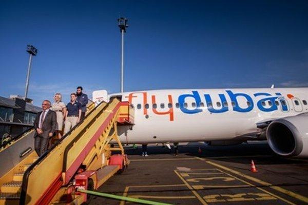 A Flydubai plane in Bratislava, illustrative stock photo