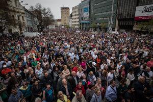 Bratislava protest For Decent Slovakia, April 15, 2018