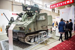 BvSIO vehicle for all types of roads and off-road (Bae Systems) at IDEB 2018.