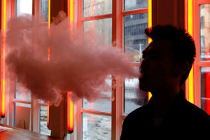Vaping is one of the new forms of inhaling nicotine.