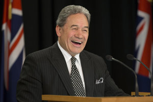 The deputising Prime Minister of New Zealand, Winston Peters.