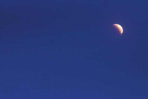 Partial Moon eclipse over Bratislava