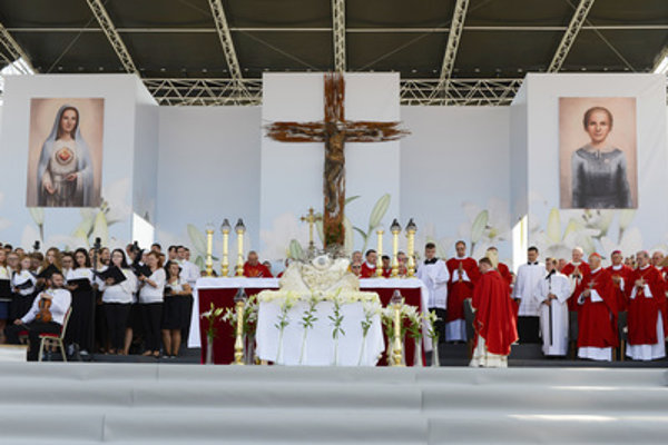 Beatification of Anna Kolesárová, Košice, Sep 1, 2018.