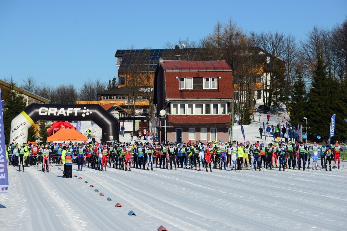 11a3117fe The White Trail cross-country ski marathon in ski resort Skalka, Kremnica.