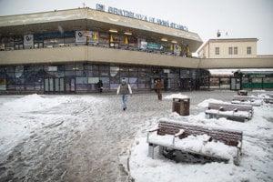 Bratislava's main railway station.