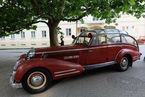 Old, stylish firemen car from Brno