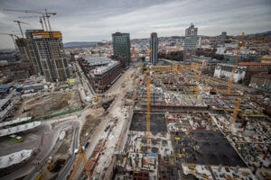 The biggest construction site in central Europe at 4.4 hectares large.