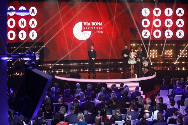 President Andrej Kiska speaking at the April 2 gala.