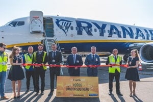 Ryanair's first flight to London took off from Košice on April 2,2019.