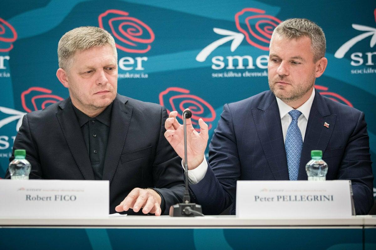 Former PM Robert Fico (left) and his successor Peter Pellegrini (right).