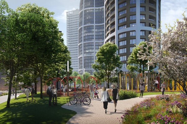 The city park of Sky Park project