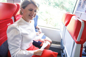 President Zuzana Čaputová travelled to Austria on train.