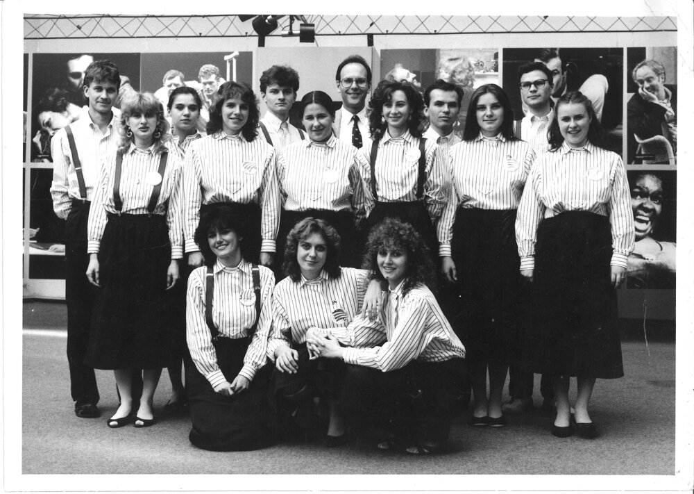 American Theatre Today in about 1986 (Plulíková second from right in the middle row)