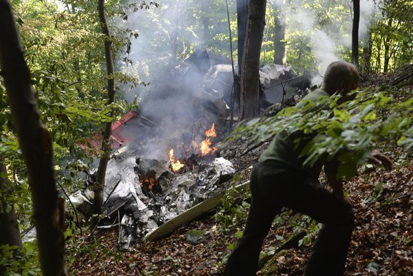 Two planes crashed near Ilava