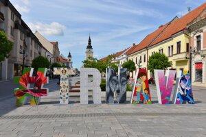 The pedestrian zone in Trnava.
