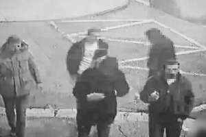 CCTV footage shows the three men suspected of the murder of a 22-year-old Serbian national in Bratislava on December 8, 2019