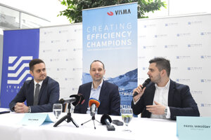 The announcement of the arrival of Visma to Košice.