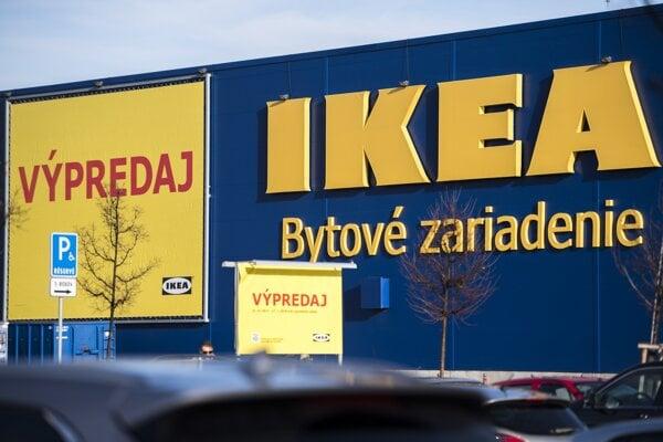 The IKEA furniture store in Bratislava