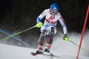 Petra Vlhová on the track.