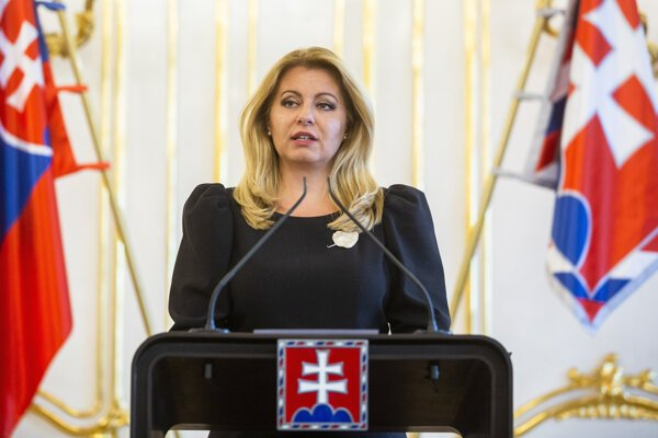 President Zuzana Čaputová talks about her meeting with Police Corps President Milan Lučanský and General Prosecutor Jaromír Čižnár on January 22, 2020