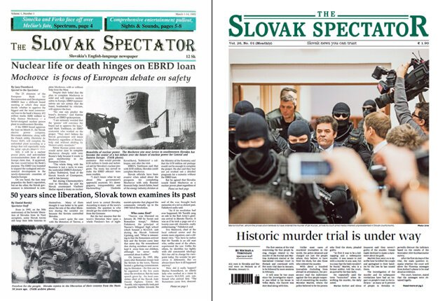 The first and the current issue of The Slovak Spectator