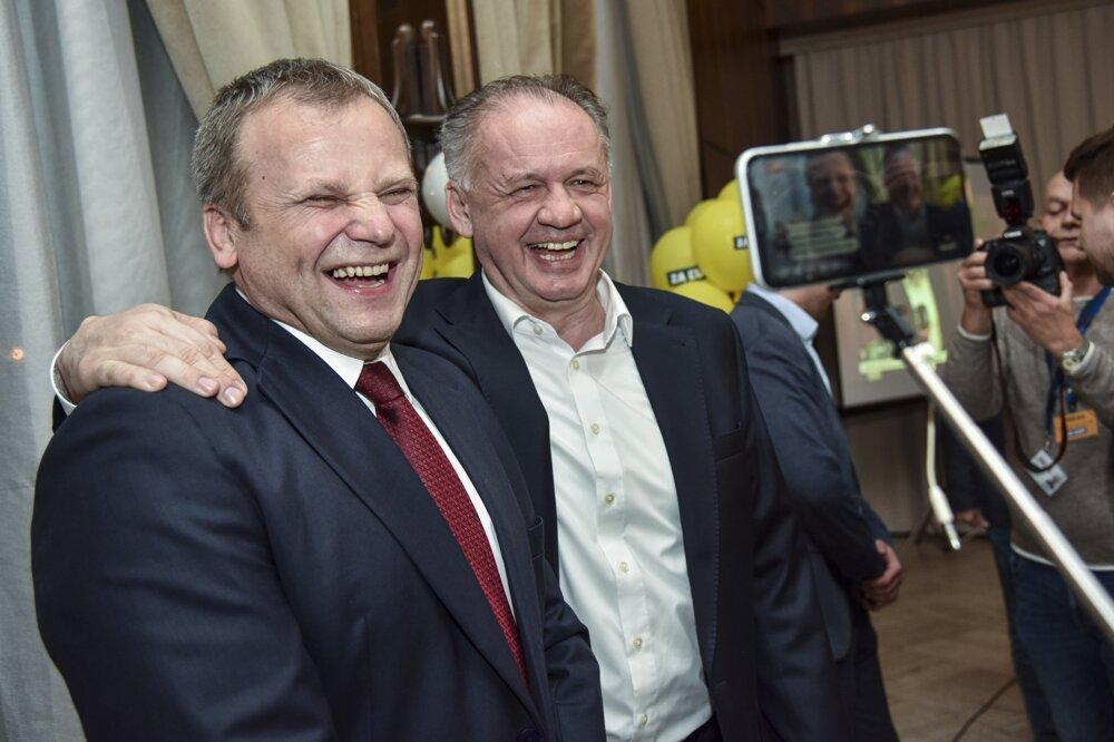 Vladimír Ledecký and Andrej Kiska of Za Ľudí