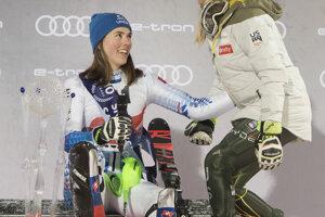 Slovak skier Petra Vlhová and one of her biggest rivals, US skier Mikaela Shiffrin.