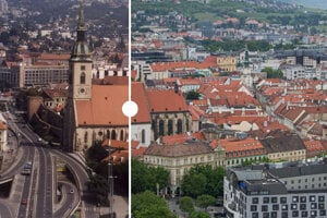 Bratislava in 2002 and today