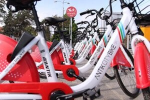 Bratislava and its partners run several bike-sharing systems.