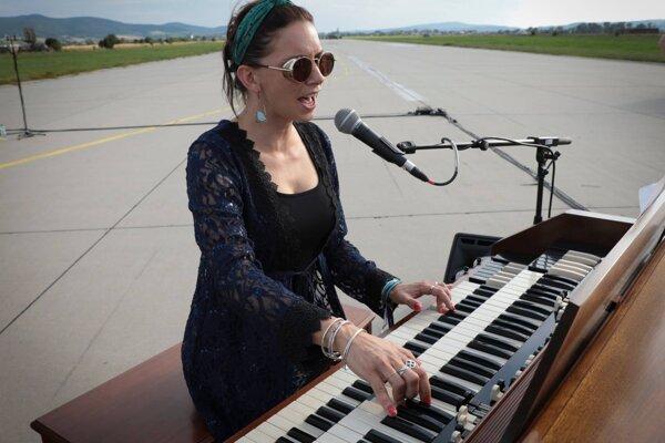 Slovak singer Dorota Nvotová performs at the 2020 Pohoda in the Air festival July 9 in Trenčín.