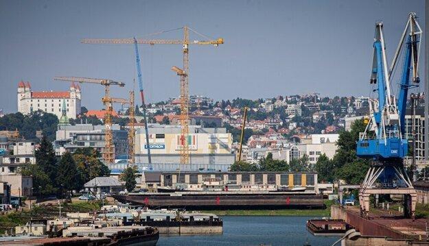 The Winter Port in Bratislava.