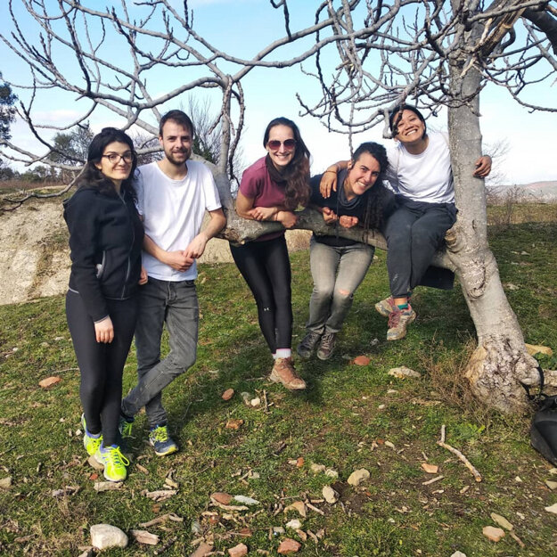 Arancha and other volunteers she met and made friends with in Albania.