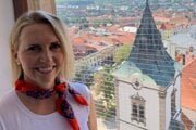 US Ambassador Bridget Brink visits Levoča in August 2020.