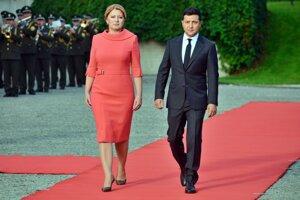 President Zuzana Čaputová and President Volodymyr Zelensky