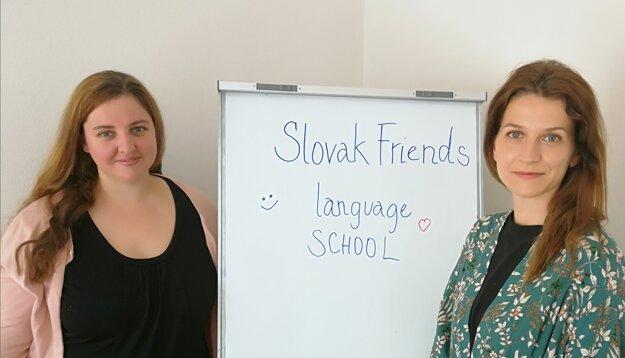 Katarina Blažeková (left) and Zuzana Peláková (right) co-founders of the Slovak Friends Language School