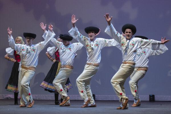 Východná Slovak Dancers, a Canadian-Slovak folk ensemble, performs in Toronto in July 2019.