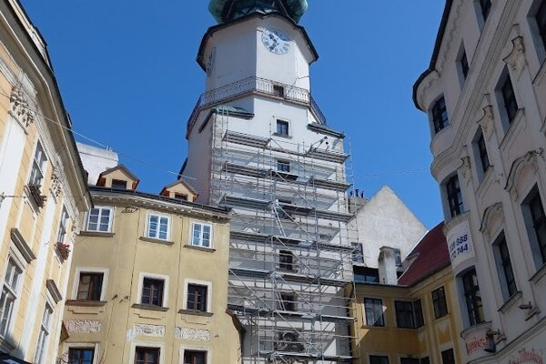 Reconstruction of Michael's Tower has started.