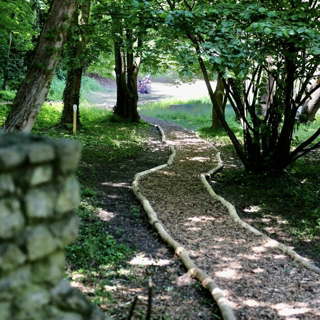 Prϋger-Wallner garden is combination of wild and maintained greenery.