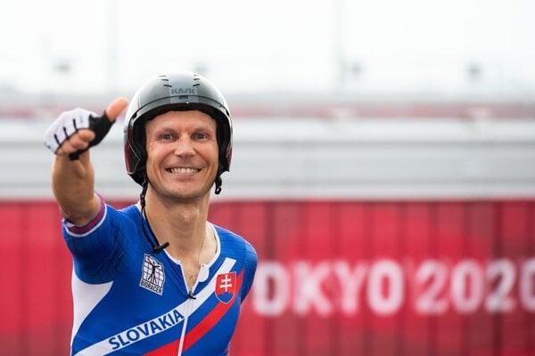 Patrik Kuril won the men's C4 time trial at the 2020 Paralympic Games in Tokyo.