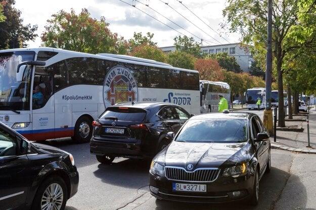 Blockade in Bratislava