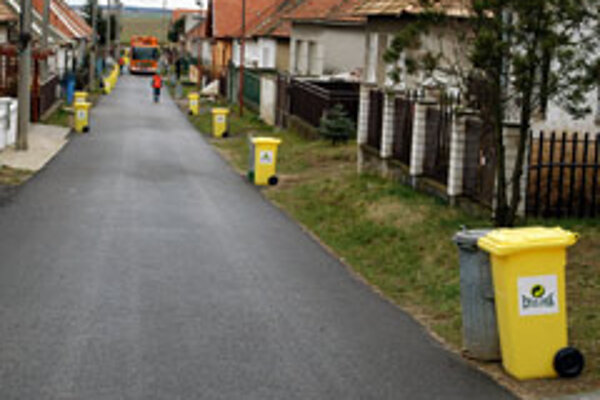 Keep it neat: recycling bins (such as the yellow variety shown here) are increasingly common.